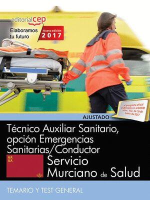 TÉCNICO AUXILIAR SANITARIO, OPCIÓN EMERGENCIAS SANITARIAS/CONDUCTOR. SERVICIO MURCIANO DE SALUD. TEM