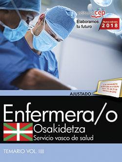 ENFERMERA/O. SERVICIO VASCO DE SALUD-OSAKIDETZA. TEMARIO. VOL.III