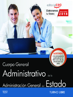 CUERPO GENERAL ADMINISTRATIVO DE LA ADMINISTRACIÓN GENERAL DEL ESTADO (TURNO LIBRE). TEST