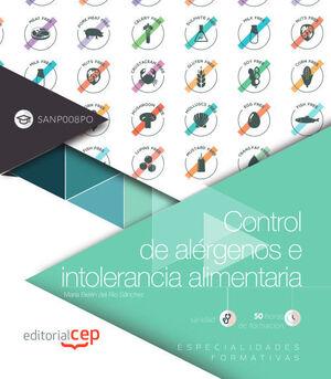CONTROL DE ALÉRGENOS E INTOLERANCIA ALIMENTARIA (SANP008PO). ESPECIALIDADES FORMATIVAS