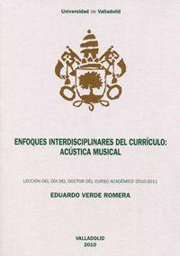 ENFOQUES INTERDISCIPLINARES DEL CURRÍCULO: ACÚSTICA MUSICAL. LECCIÓN DÍA DEL DOCTOR CURSO ACADÉMICO