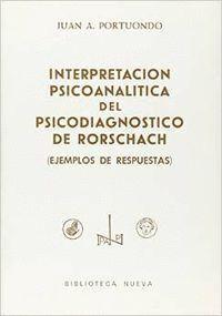 INTERPRETACION PSICOANALTICA DEL PSICODIAGNÓSTICO DE RORSCHACH