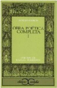 OBRA POÉTICA COMPLETA, I                       .