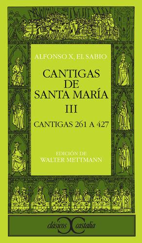 CANTIGAS DE SANTA MARÍA, III                                                    .