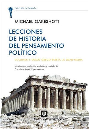 LECCIONES DE HISTORIA DEL PENSAMIENTO POLÍTICO