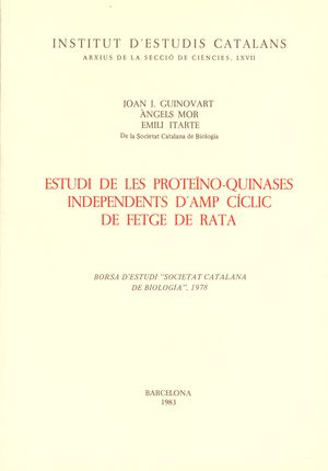 ESTUDI DE LES PROTEÏNO-QUINASES INDEPENDENTS D'AMP CICLIC...
