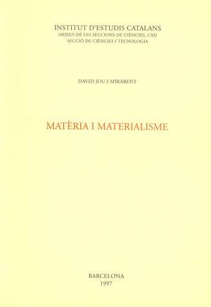MATÈRIA I MATERIALISME