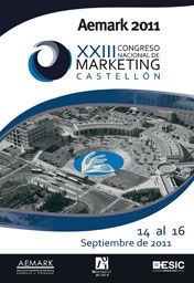 XXIII CONGRESO NACIONAL DE MARKETING. AEMARK 2011 CASTELLÓN