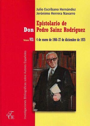 EPISTOLARIO DE DON PEDRO SAINZ RODRIGUEZ