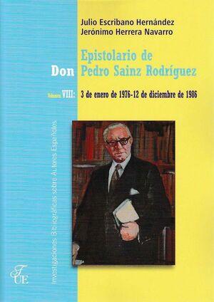 EPISTOLARIO DE DON PEDRO SAINZ RODRÍGUEZ