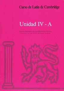 CURSO DE LATÍN DE CAMBRIDGE LIBRO DEL ALUMNO UNIDAD IV-A
