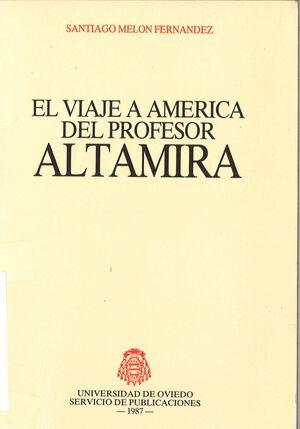 EL VIAJE A AMÉRICA DEL PROFESOR ALTAMIRA