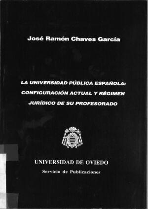 LA UNIVERSIDAD PÚBLICA ESPAÑOLA: CONFIGURACIÓN ACTUAL Y R?GIMEN JUR¡DICO DE SU PROFESORADO