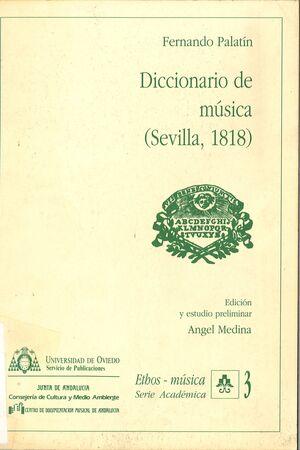 DICCIONARIO DE MÚSICA (SEVILLA, 1818)