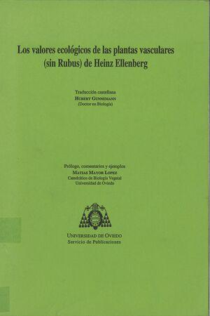 LOS VALORES ECOLÓGICOS DE LAS PLANTAS VASCULARES (SIN RUBUS) DE HEINZ ELLENBERG