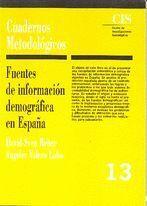 FUENTES DE INFORMACIÓN DEMOGRÁFICA EN ESPAÑA