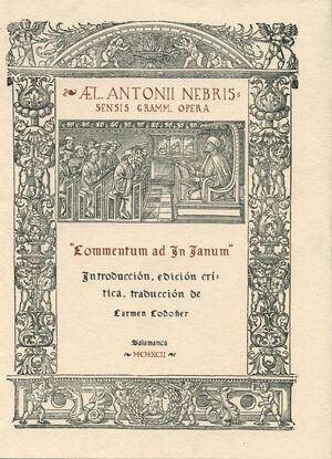 COMENTARIO AL POEMA ´IN IANVM´ DE PEDRO MÁRTIR DE ANGLERÍA. EDICIÓN CRÍTICA DE CARMEN CODOÑER