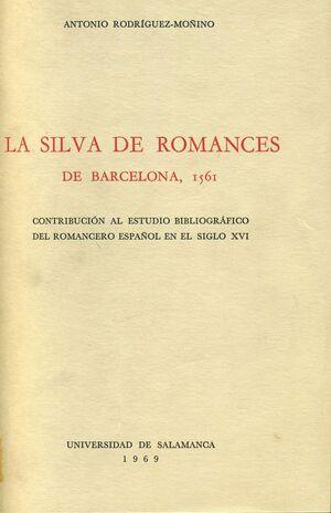 LA SILVA DE ROMANCES DE BARCELONA, 1561