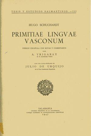 PRIMITIAE LINGVAE VASCONUM