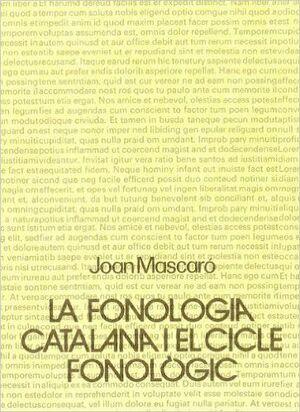 LA FONOLOGIA CATALANA, I