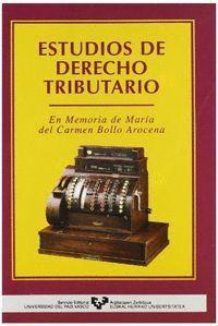 ESTUDIOS DERECHO TRIBUTARIO UNIV.PAIS VASCO