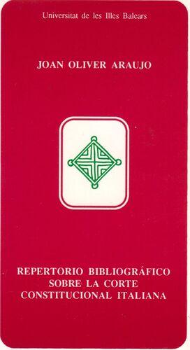 REPERTORIO BIBLIOGRÁFICO SOBRE LA CORTE