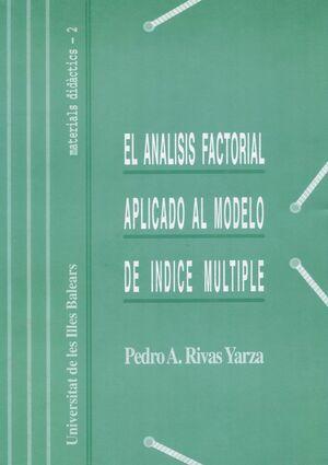 EL ANÁLISIS FACTORIAL APLICADO AL MODELO