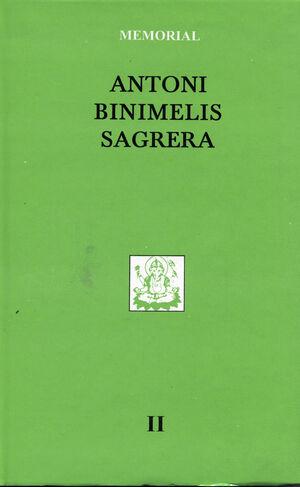 MEMORIAL (VOL.II). ANTONI BINIMELIS SAGRERA