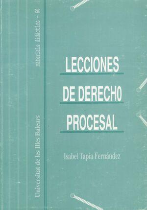 LECCIONES DE DERECHO PROCESAL.