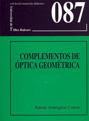 COMPLEMENTOS DE ÓPTICA GEOMÉTRICA
