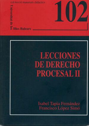 LECCIONES DE DERECHO PROCESAL II