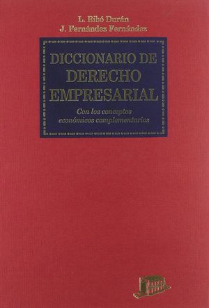 DICCIONARIO DE DERECHO EMPRESARIAL