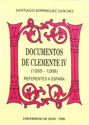 DOCUMENTOS DE CLEMENTE IV (1265-1268)