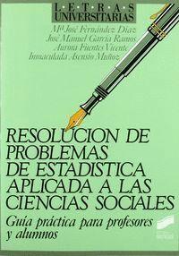RESOLUCIÓN PROBLEMAS DE ESTADÍSTICA APLICADA A CIENCIAS SOCIALES