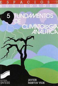 FUNDAMENTOS DE CLIMATOLOGÍA ANALÍTICA