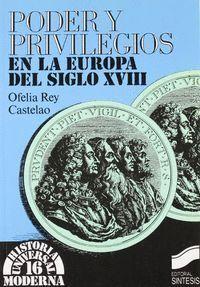 PODER Y PRIVILEGIOS EN LA EUROPA DEL S. XVIII
