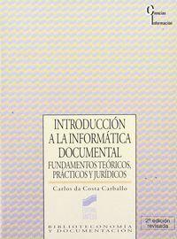 INTRODUCCIÓN A LA INFORMÁTICA DOCUMENTAL
