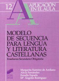 MODELO DE SECUENCIA PARA LENGUA Y LITERATURA CASTELLANAS, ESO