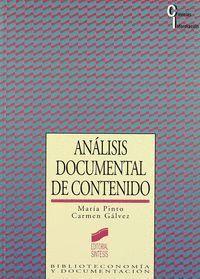 ANÁLISIS DOCUMENTAL DE CONTENIDO