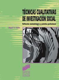 TÉCNICAS CUALITATIVAS DE INVESTIGACIÓN SOCIAL