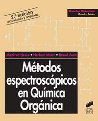 MÉTODOS ESPECTROSCÓPICOS EN QUÍMICA ORGÁNICA
