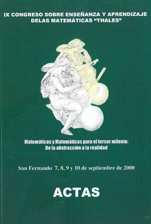 IX CONGRESO SOBRE ENSEÑANZA Y APRENDIZAJE DE LAS MATEMÁTICAS (THALES)