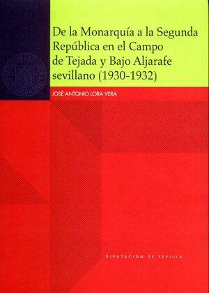 DE LA MONARQUÍA A LA SEGUNDA REPÚBLICA EN EL CAMPO DE TEJADA Y BAJO ALJARAFE SEVILLANO (1930-1932)