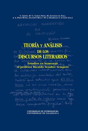 TEORÍA Y ANÁLISIS DE LOS DISCURSOS LITERARIOS