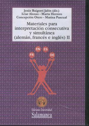 MATERIALES PARA LA INTERPRETACIÓN CONSECUTIVA Y SIMULTÁNEA