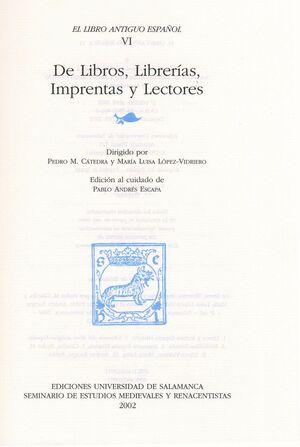 EL LIBRO ANTIGUO ESPAÑOL, VI