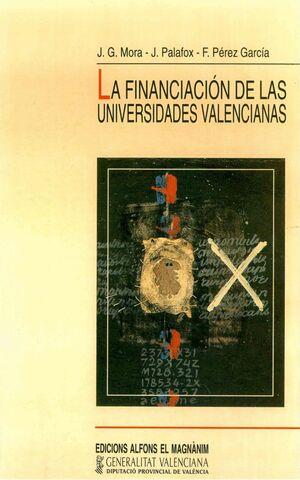 LA FINANCIACIÓN DE LAS UNIVERSIDADES VALENCIANAS