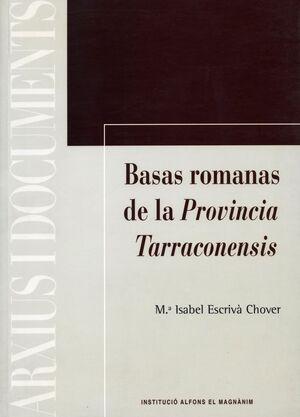 ESTUDIO TIPOLÓGICO DE LAS BASAS ROMANAS DE LA PROVINCIA TARRACONENSIS