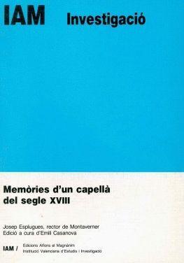MEMÒRIES D'UN CAPELLÀ DEL SEGLE XVIII