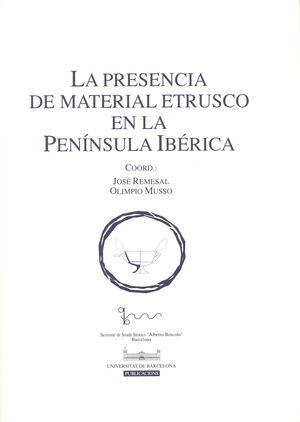 PRESENCIA DE MATERIAL ETRUSCO EN LA PENÍNSULA IBÉRICA, LA